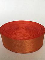 Атласная лента 5 cм -  цвет ярко-оранжевый 09