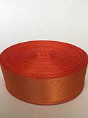 Атласна стрічка 5 см - колір яскраво-оранжевий 09