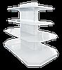 Торговый металлический стеллаж торцевой