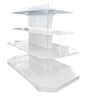 Торговый металлический стеллаж торцевой, фото 1