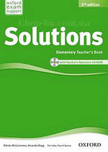 Solutions Elementary 2nd(Second) Edition Teacher's Book and CD-ROM Pack (книга для учителя, 2-е издание)