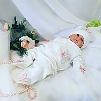 Человечек для новорожденных + шапочка + царапки, фото 1
