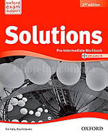 Solutions Pre-Intermediate 2nd(Second) Edition Workbook  and Audio CD Pack / Рабочая тетрадь