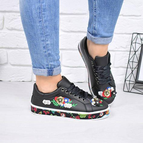"""Кеды, кроссовки, мокасины с вышивкой """"Oreon"""" обувь повседневная из эко кожи, фото 2"""