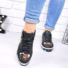 """Кеды, кроссовки, мокасины с вышивкой """"Oreon"""" обувь повседневная из эко кожи, фото 3"""