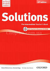 Solutions Pre-Intermediate 2nd(Second) Edition Teacher's Book and CD-ROM Pack (книга для учителя, 2-е изд)
