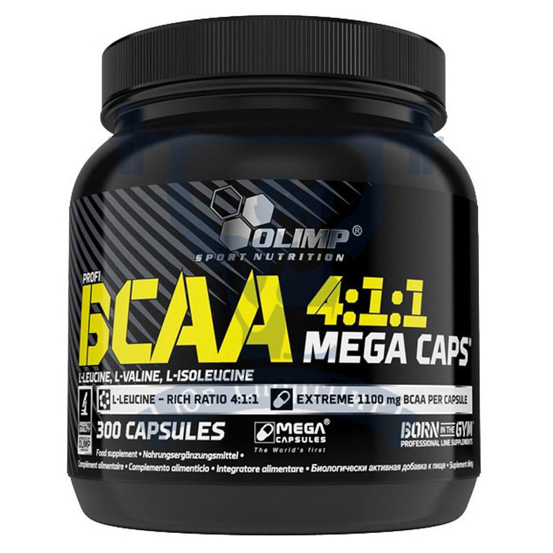 OLIMP BCAA 4:1:1 Mega Caps БЦАА аминокислоты спортивное питание для тренировок для восстановления мышц