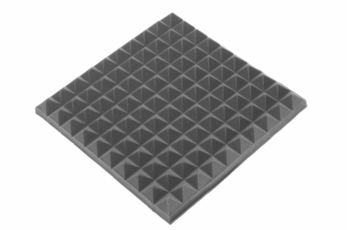 Акустическая панель Ecosound пирамида 50мм Mini,черный графит 50х50см из акустического поролона