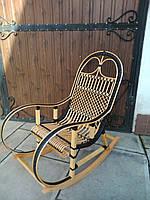 """Кресло-качалка """"Ротанг"""" черная №1"""