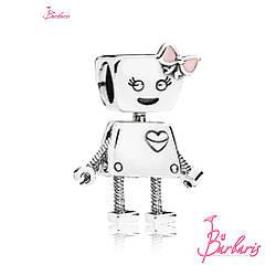Серебряный шарм «Bella Bot» в стиле Pandora