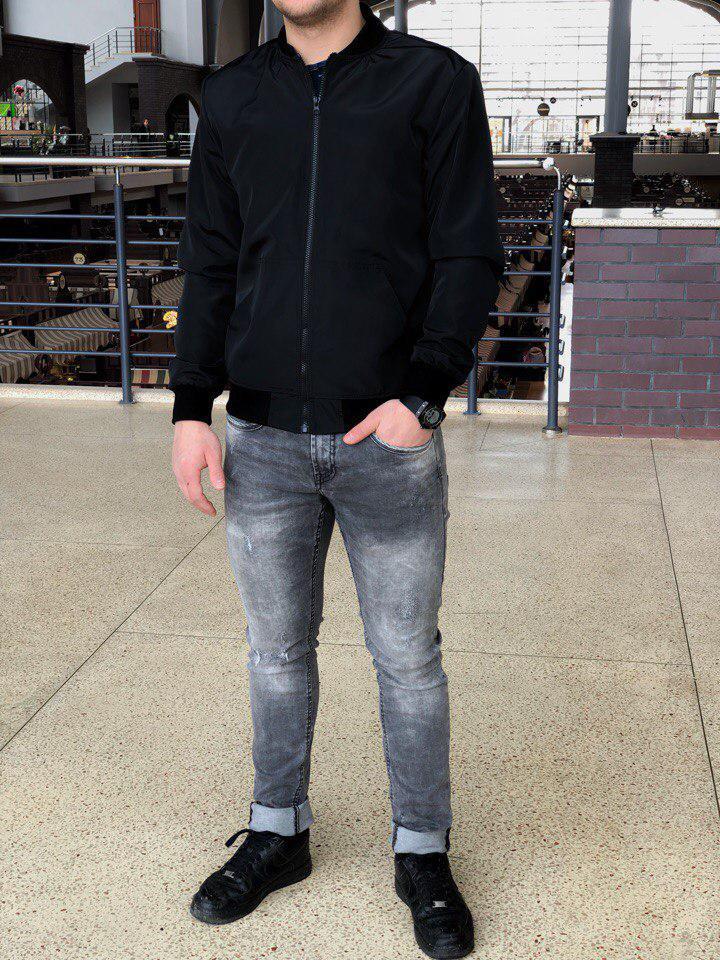 Куртка-бомбер мужская черная