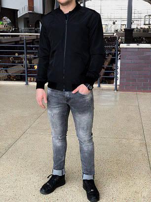 Куртка-бомбер мужская черная, фото 2