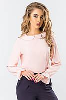 Розовая блуза с круглым воротником