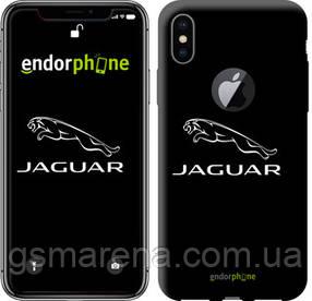"""Чехол на iPhone X Jaguar. Logo v2 """"3164c-1050-7794"""""""