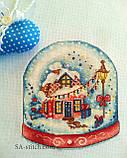 Набор для вышивания крестом Снежный шар красный А010, фото 3