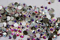 Стразы кристалл АВ -хамелеоны. стекло 100шт. есть опт! ss3 -1.2мм, великолепное качество!