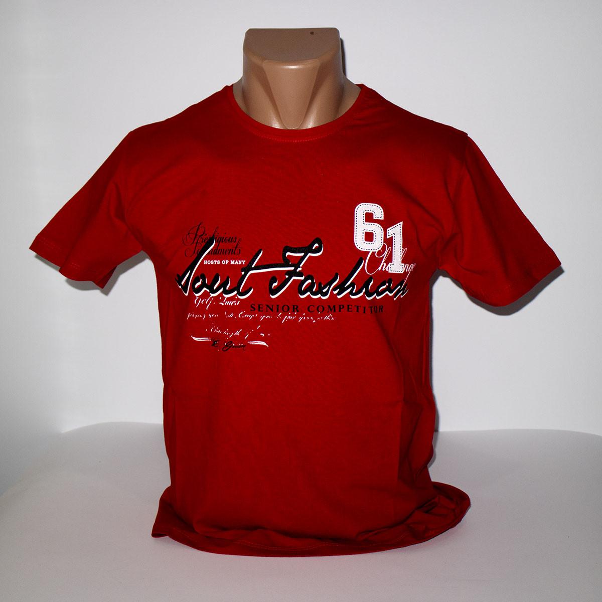 Футболка червона Турецького виробництва бавовна розміри 42-48 1098