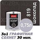 Днепровская Вагонка Графитная № 819 Шоколадный Краска -Эмаль 2,5лт, фото 3