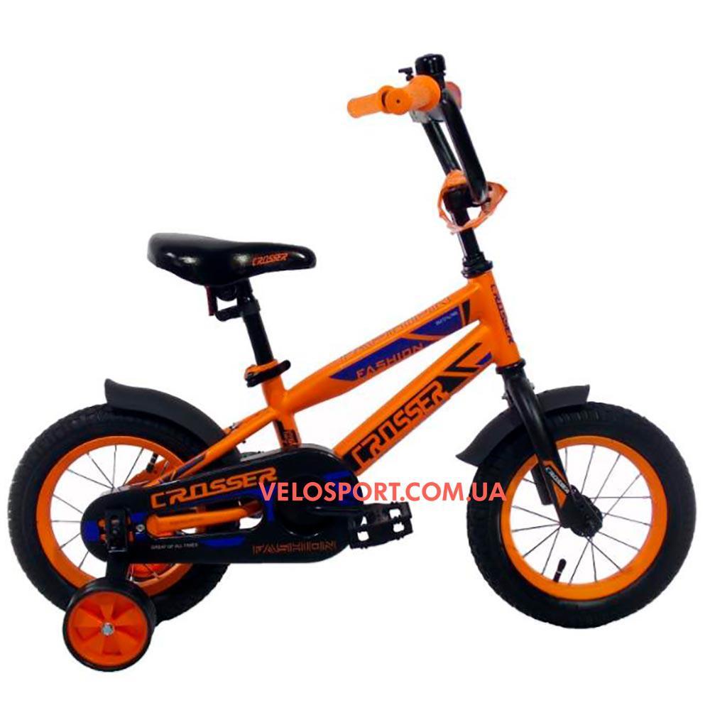 Детский велосипед Crosser Fashion 12 дюймов оранжевый