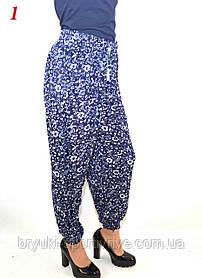 Штани жіночі літні під манжет - великі розміри