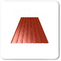 Профнастил ПС-10 вишня 950*1700мм