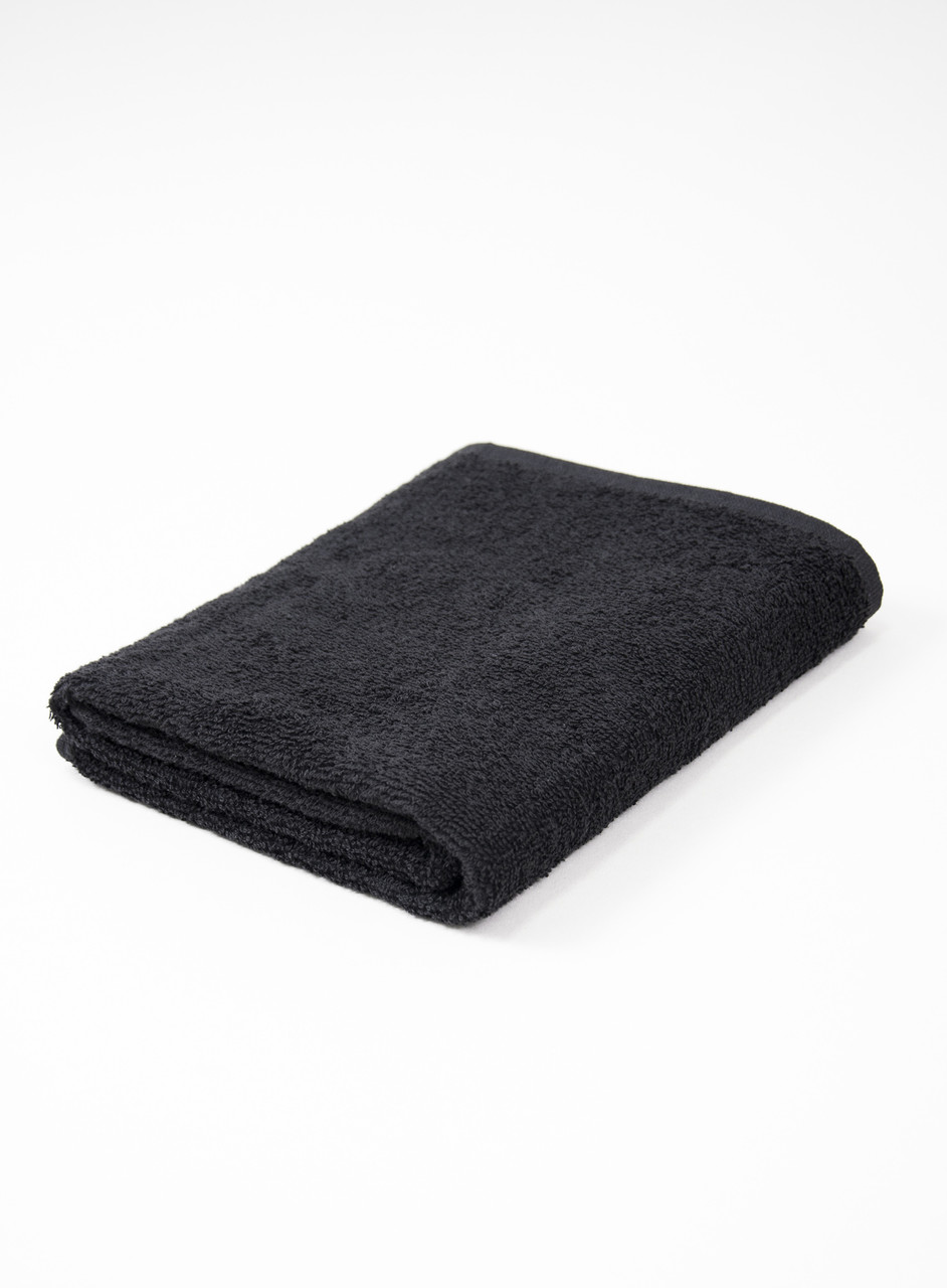 Полотенце махровое 70х140см Черный 420гр Lotus