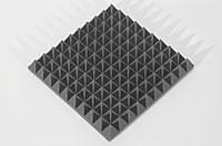 Акустическая панель Ecosound пирамида 70мм Mini,черный графит 50х50см из акустического поролона, фото 1