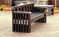 Скамья садовая, деревянная мебель для дачи Слайд со спинкой