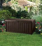Садова скриня GLENWOOD STORAGE BOX 390L графіт (Keter), фото 3