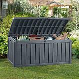 Садова скриня GLENWOOD STORAGE BOX 390L графіт (Keter), фото 2