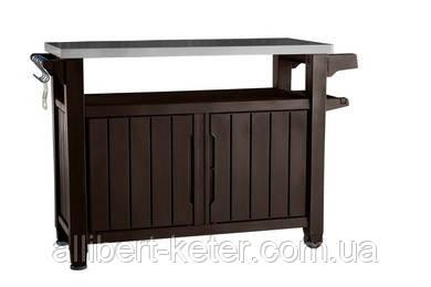 Стіл для гриля UNITY XL 183 Л темно-коричневий (Keter), фото 1