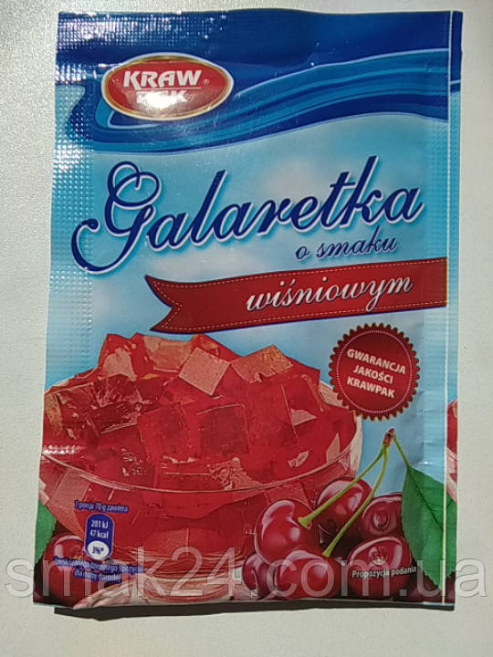 Желе (Galaretka) со вкусом вишни Kraw Pak Польша 70г