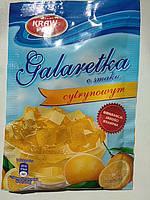 Желе (Galaretka) со вкусом лимона Kraw Pak Польша 70г