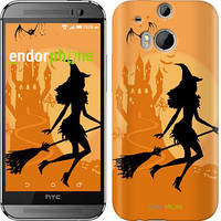 "Чехол на HTC One M8 Ведьма на метле ""1184c-30-532"""