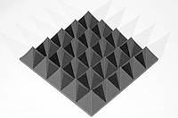 Акустическая панель пирамида XL 100мм Mini,черный графит 50х50см из акустического поролона