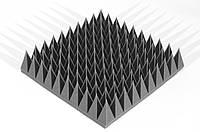 Акустическая панель пирамида 120мм Mini,черный графит 50х50см из акустического поролона