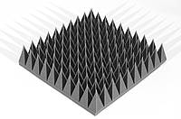 Акустична панель Ecosound піраміда 120мм Mini,чорний графіт 50х50см з акустичного поролону, фото 1