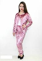 Бархатный велюровый мраморный женский костюм - двойка. Разные цвета, размеры норма от 42 до 48.