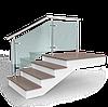 Перила из нержавеющей стали - наполнение из стекла