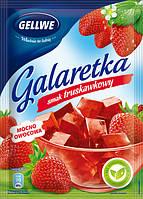Желе (Galaretka) со вкусом клубники Gellwe Польша 75г