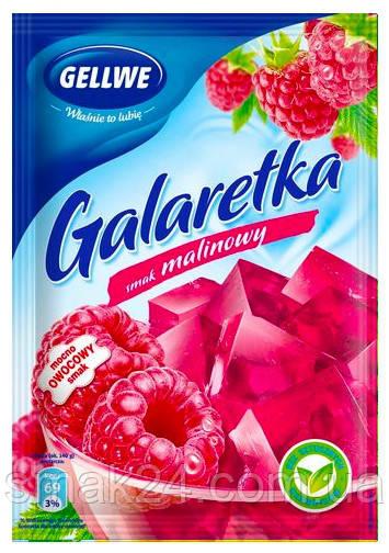 Желе (Galaretka) со вкусом малины Gellwe Польша 75г