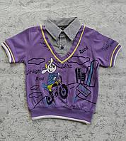 Нарядная футболка на мальчиков 86,92,104 роста, фото 1