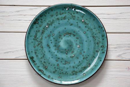 Тарелка без борта - 230  мм, Тиффани бирюза **  (Manna Ceramics)