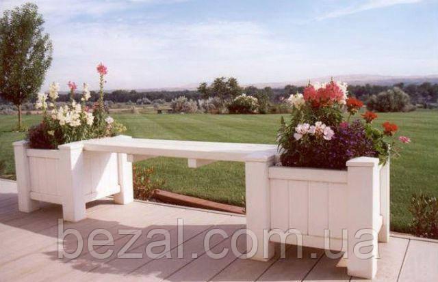 Скамья садовая, деревянная мебель для дачи Флора 2