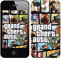 """Чехол на iPhone 4 GTA 5. Collage """"630c-15-532"""""""
