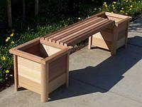 Скамья садовая, деревянная мебель для дачи Флора 3