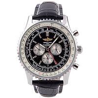 Мужские механические часы Breitling Navitimer Black (Брайтлинг)