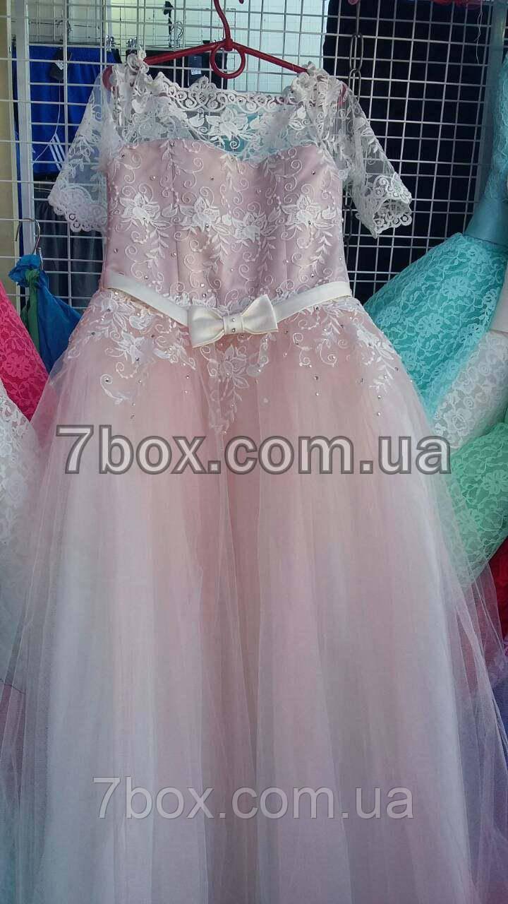 Дитяче бальне плаття Королівське-1 (пудра) Вік 10-12років.