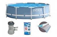 Каркасный бассейн 366 х 76 см. Intex New + фильтр и насос