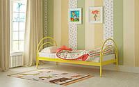 Металлическая кровать Алиса 80х190 см. Мадера, фото 1